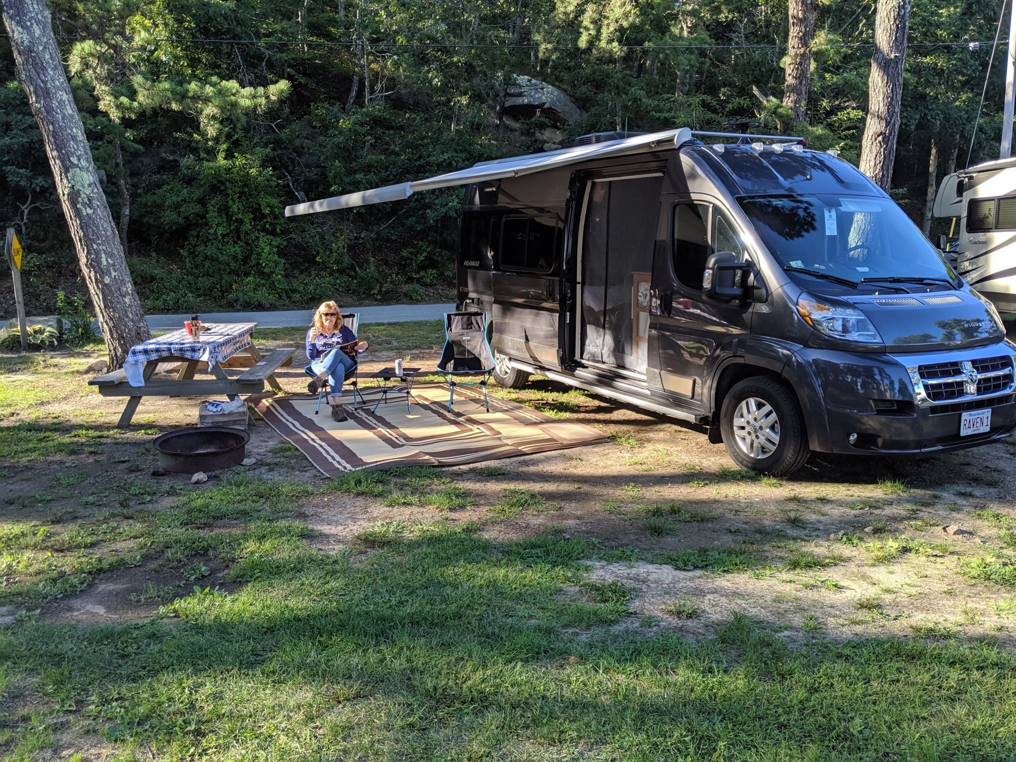 Electric awning and huge outdoor mat.. Winnebago Travato 2018