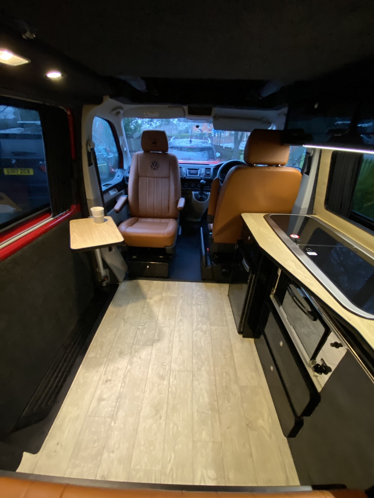 Interior Passenger Seat Swivel and Table