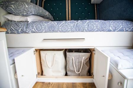 Under bed storage or dog 'pod'