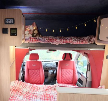 Single bed over cab