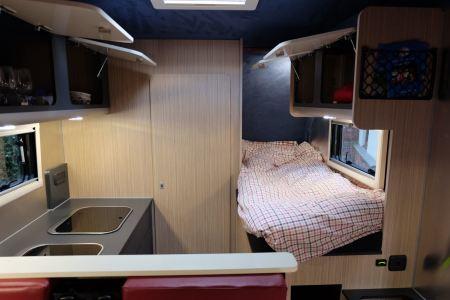 Interior cupboards open