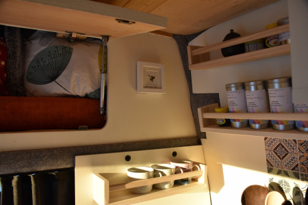 Above can storage as well as under the bench seats