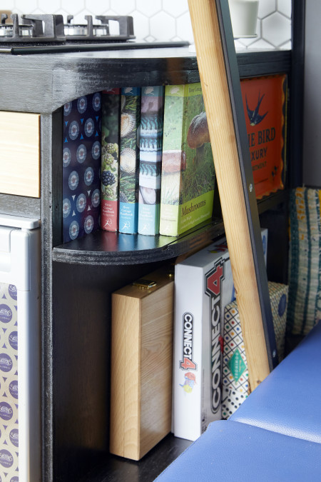 Detail. Games and books.