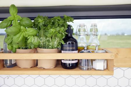 Detail. kitchen shelves.