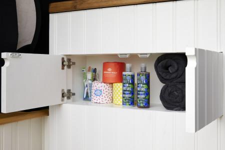 Bathroom storage cupboard.