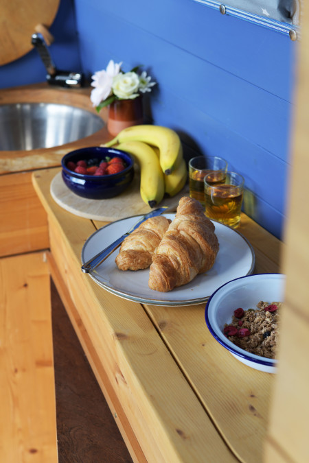 Yummy breakfasts, croissants warmed in the oven too, perfect!