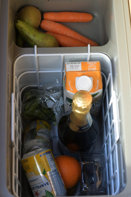 The fridge is big enough to store the essentials ;)