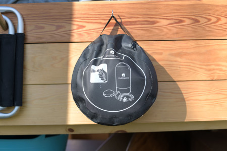 This portable shower is great if you are at a beach and need to rinse off the salt and sand!