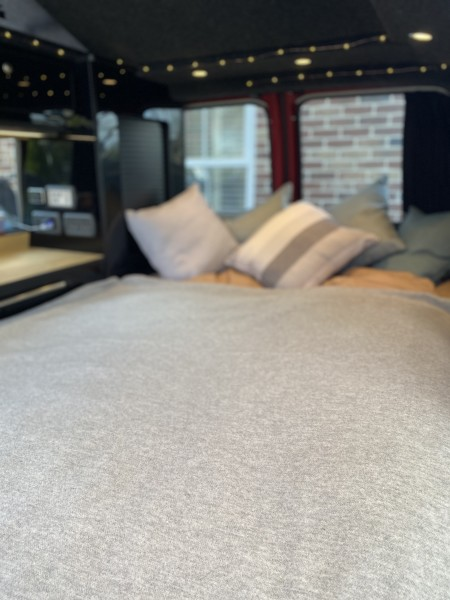 Interior Double Bed Set Up