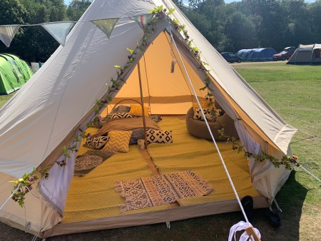 Additional optional extra - 4m Bell Tent for extra glamping space