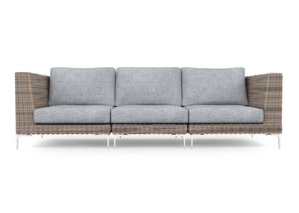 3-Piece Outdoor Sofa