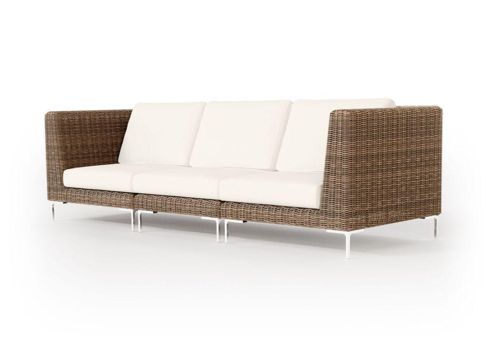 Wicker Outdoor Sofa - 3 Seat