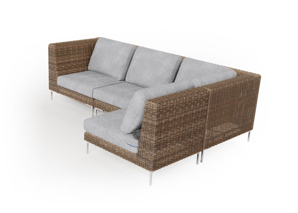 Wicker Outdoor L Sectional - 4 Seat