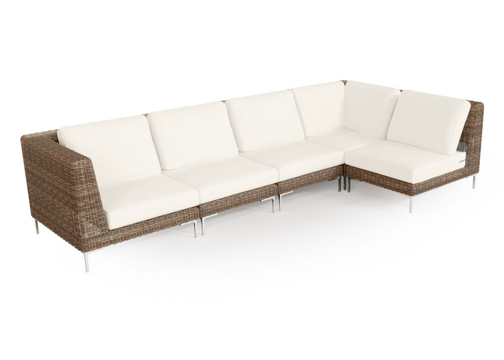 Wicker Outdoor L Sectional - 5 Seat