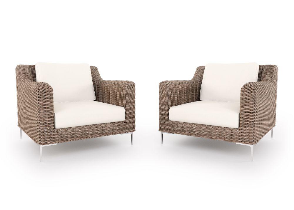 Wicker Outdoor Armchair Conversation Set
