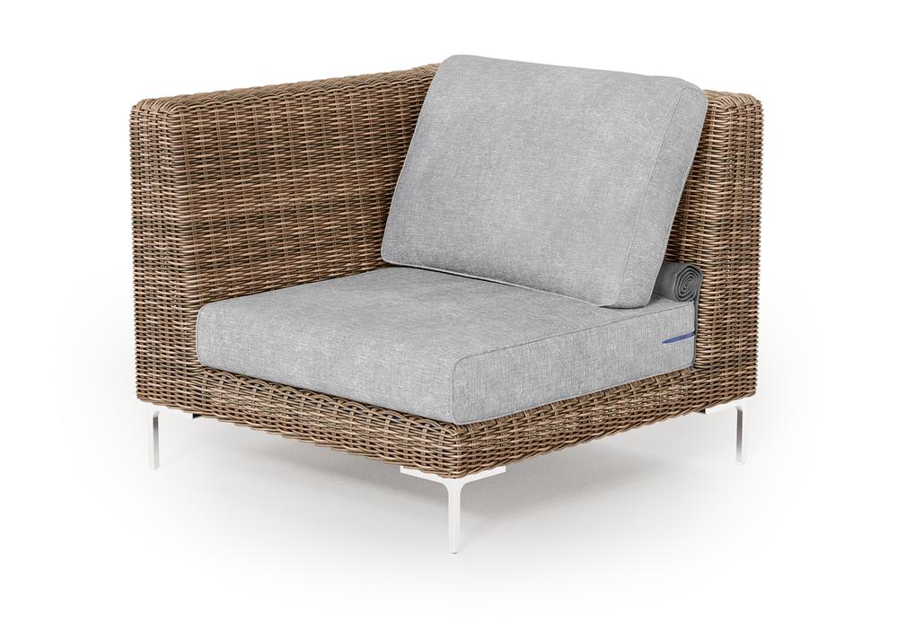 Wicker Outdoor Corner Chair - Left/Right