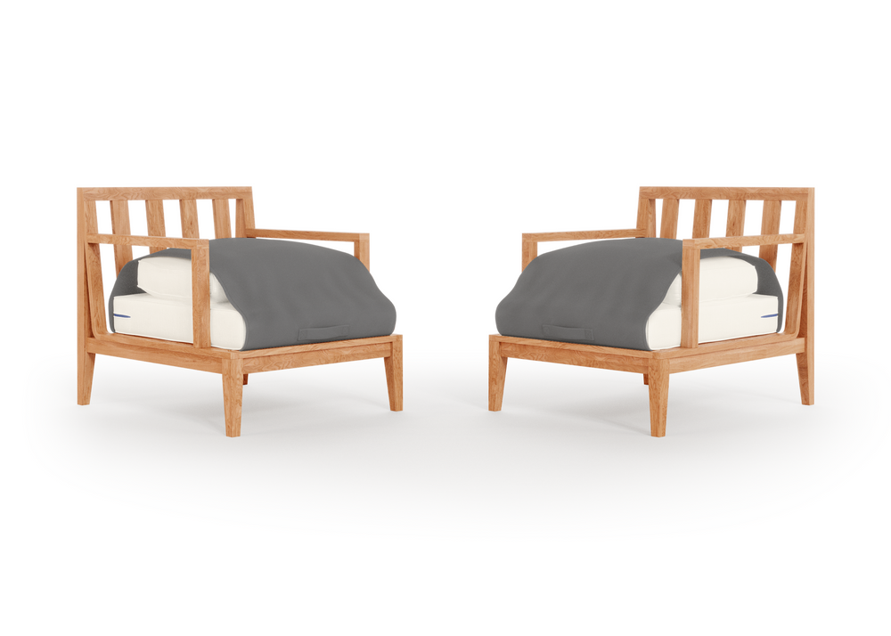 Teak Outdoor Armchair Conversation Set