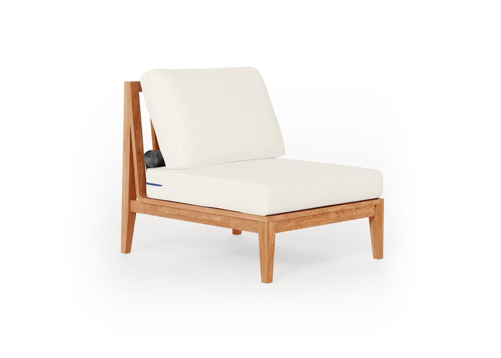 Teak Outdoor Armless Chair