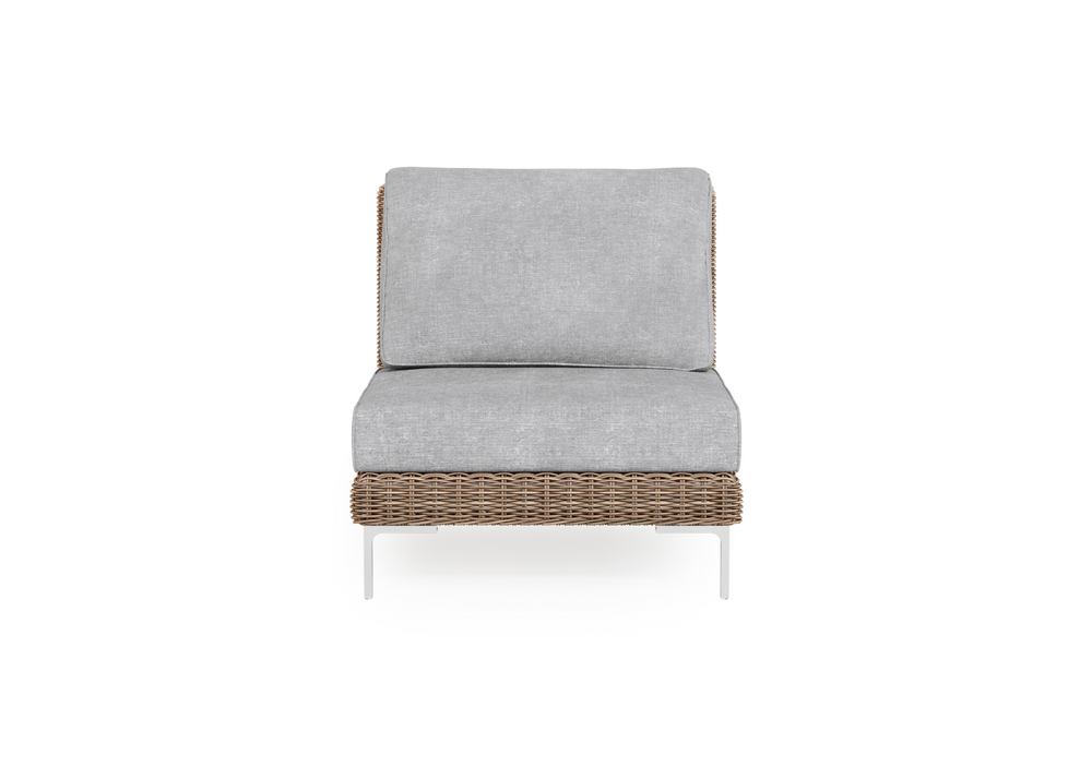 Wicker Outdoor Armless Chair