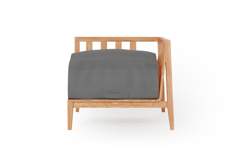 Teak Outdoor Corner Chair - Left