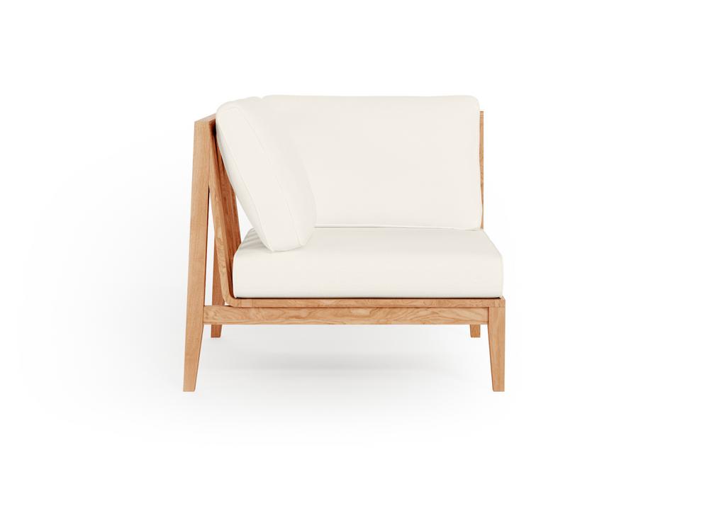 Teak Outdoor Corner Chair - Right