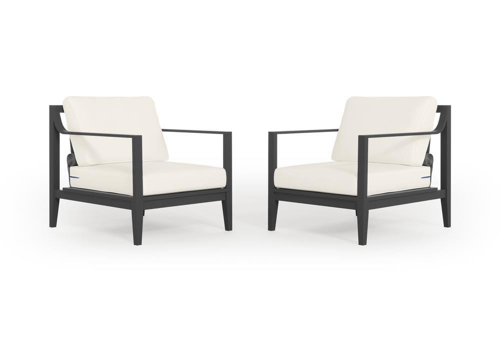 Aluminium Outdoor Armchair Conversation Set