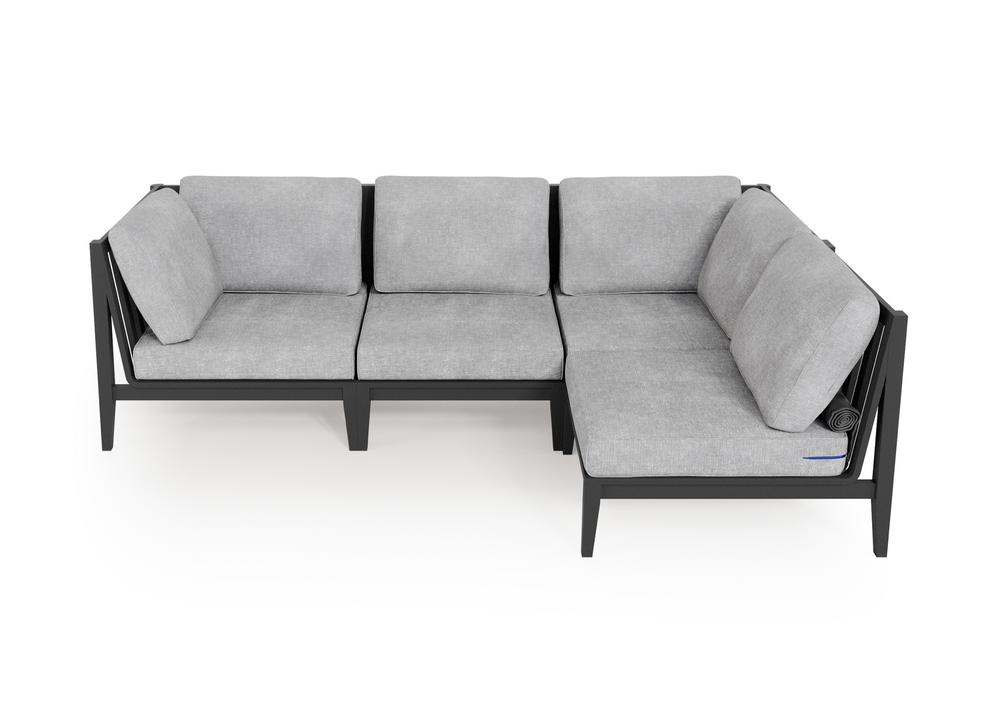 Aluminium Outdoor L Sectional - 4 Seat