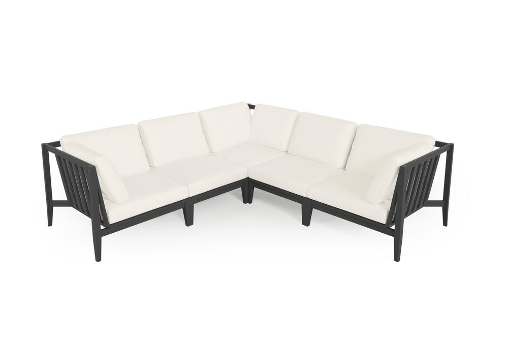 Aluminium Outdoor Corner Sectional - 5 Seat