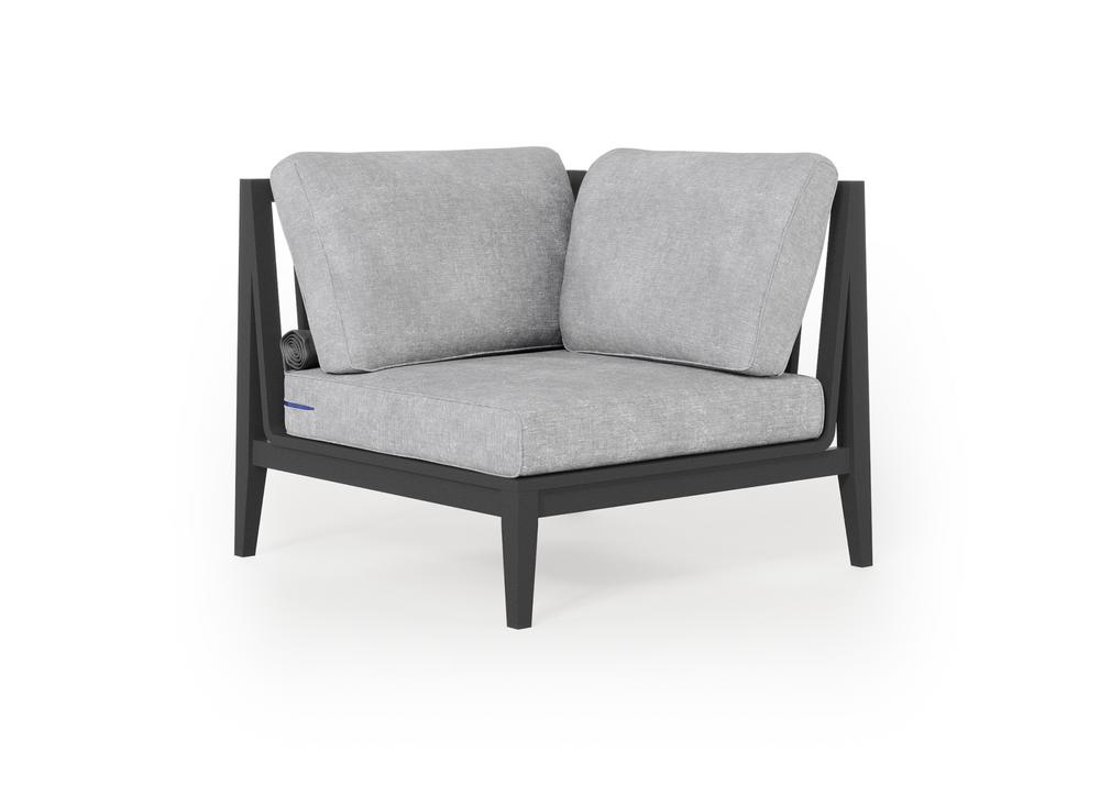 Aluminium Outdoor Corner Chair - Left
