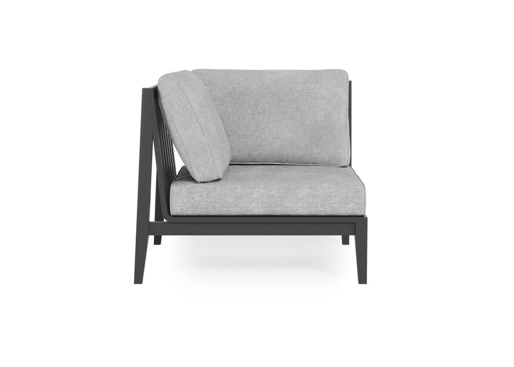 Aluminium Outdoor Corner Chair - Right