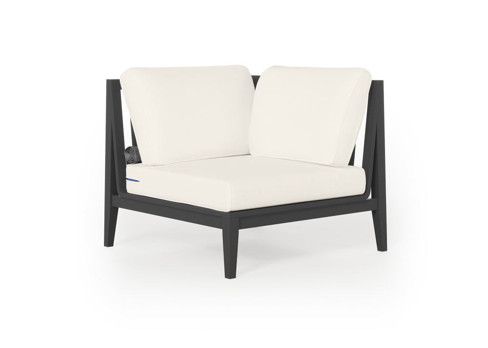 Aluminum Outdoor Sectional Chair - Left