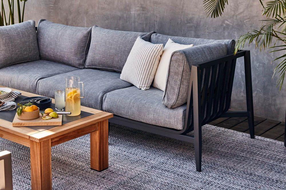 Aluminium Outdoor Sofa with Armchairs - 5 Seat