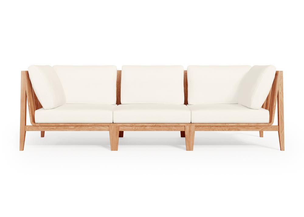 Teak Outdoor Sofa - 3 Seat