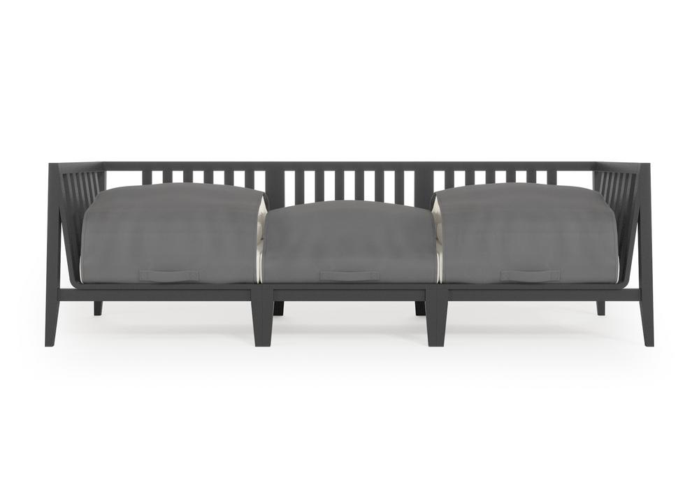 Aluminum Outdoor Sofa - 3 Seat