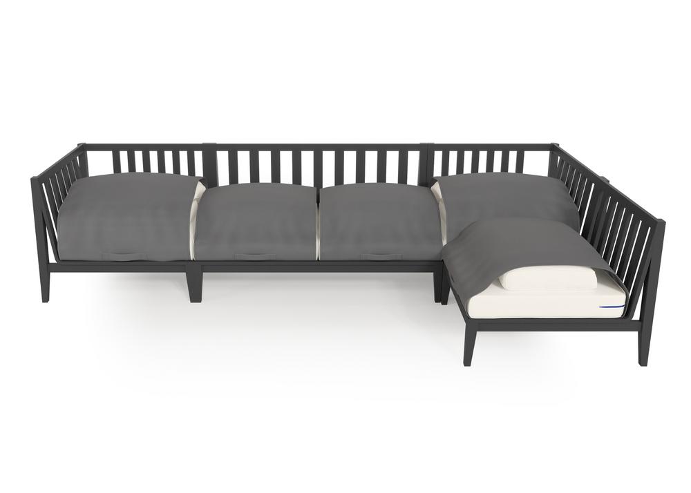 Aluminium Outdoor L Sectional - 5 Seat