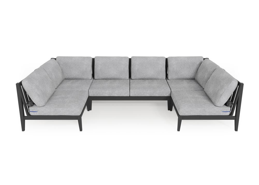 Aluminium Outdoor U Sectional - 6 Seat