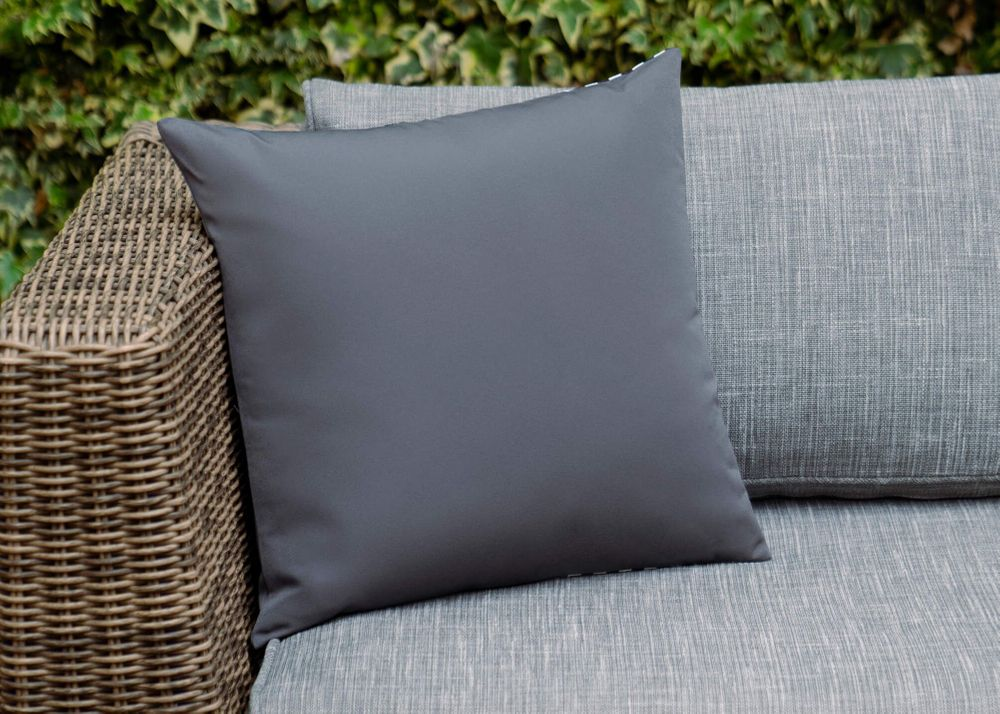 Outdoor Throw Pillow - Charcoal Left