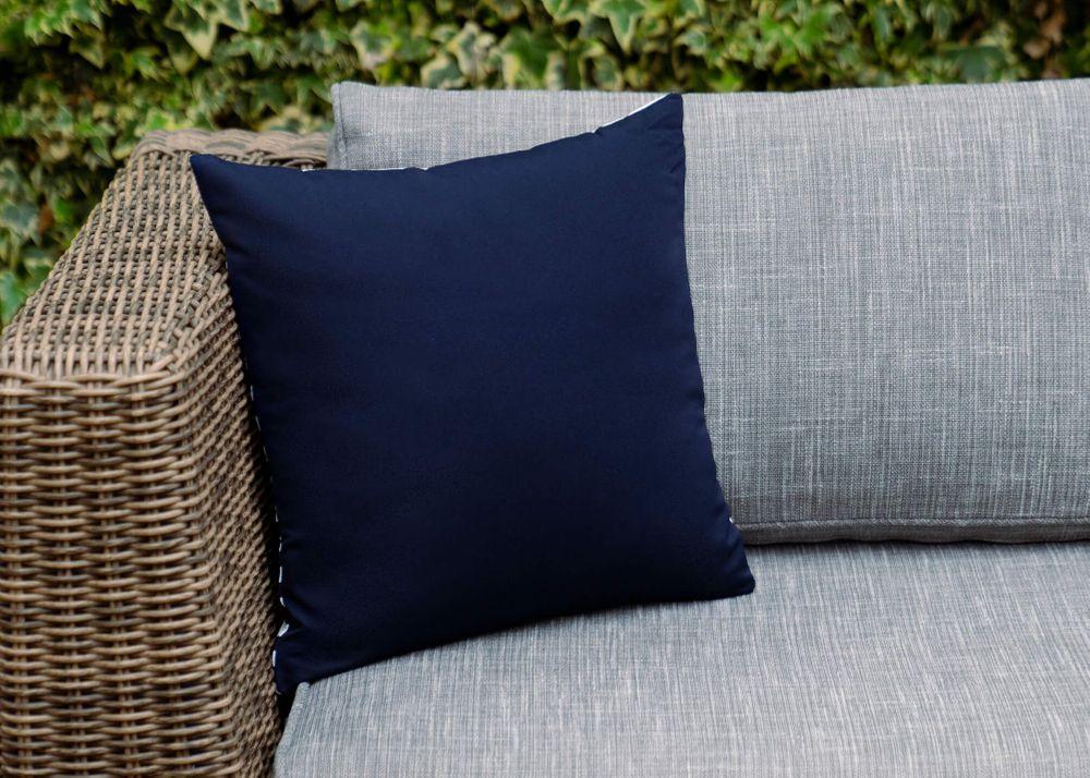 Outdoor Throw Pillow - Navy Center