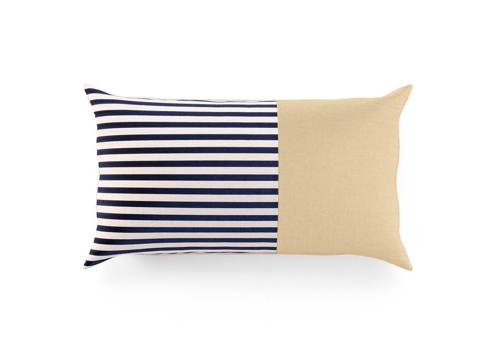 Outdoor Throw Pillow - Sand/Stripe Lumbar