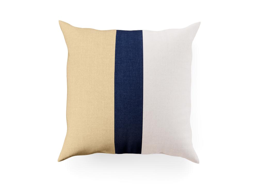 Outdoor Throw Pillow - Navy Stripe