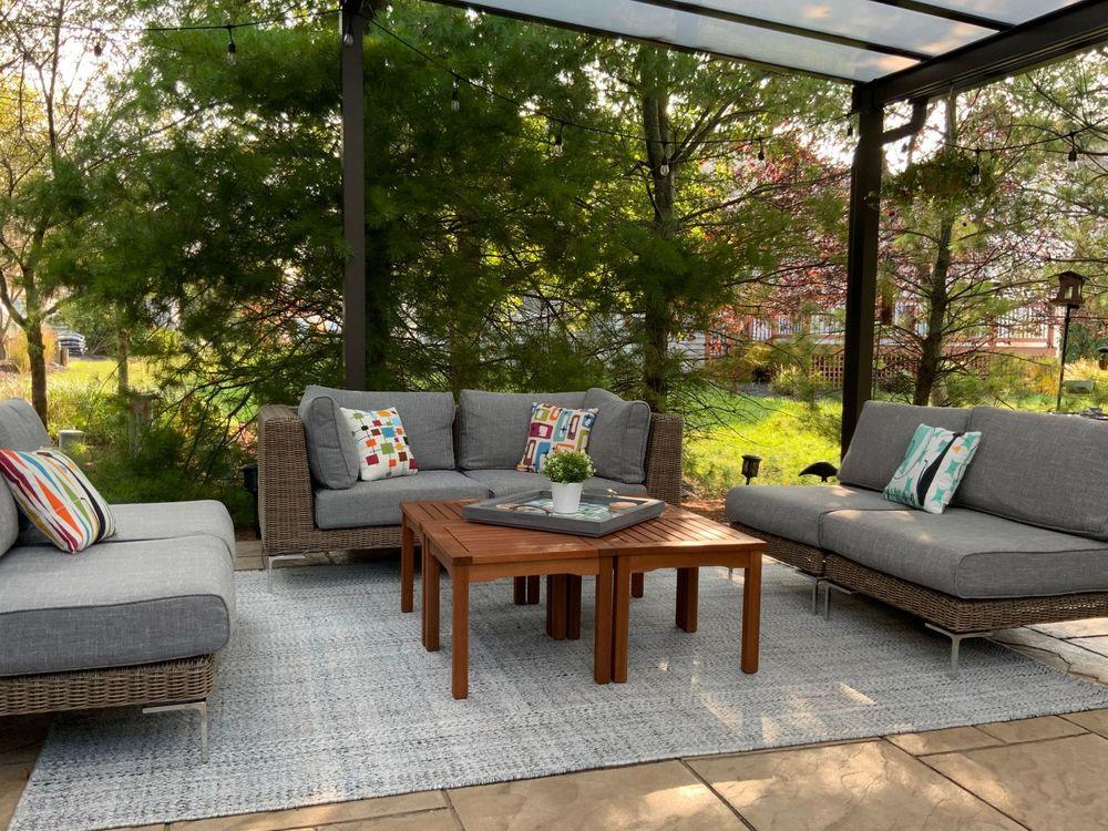 1188 Eco-Friendly Outdoor Rug in Pebble Gray