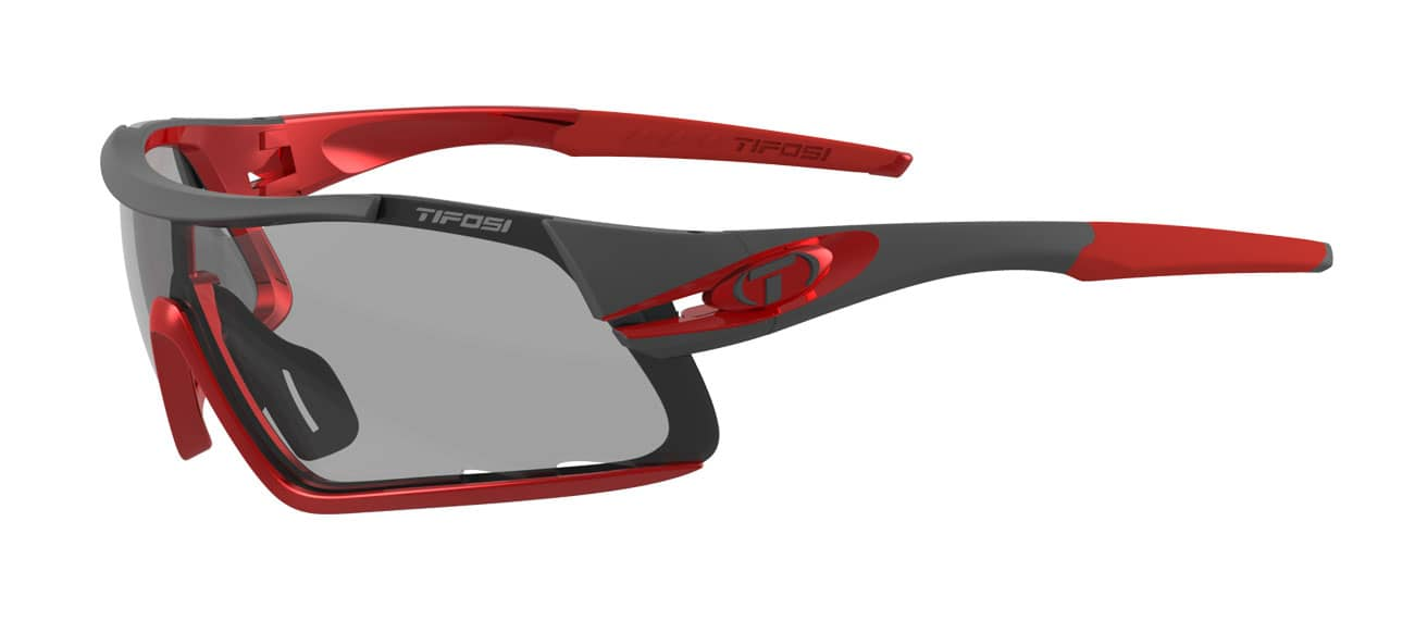 Tifosi Davos Sunglasses Race Red w/ Smoke Fototec