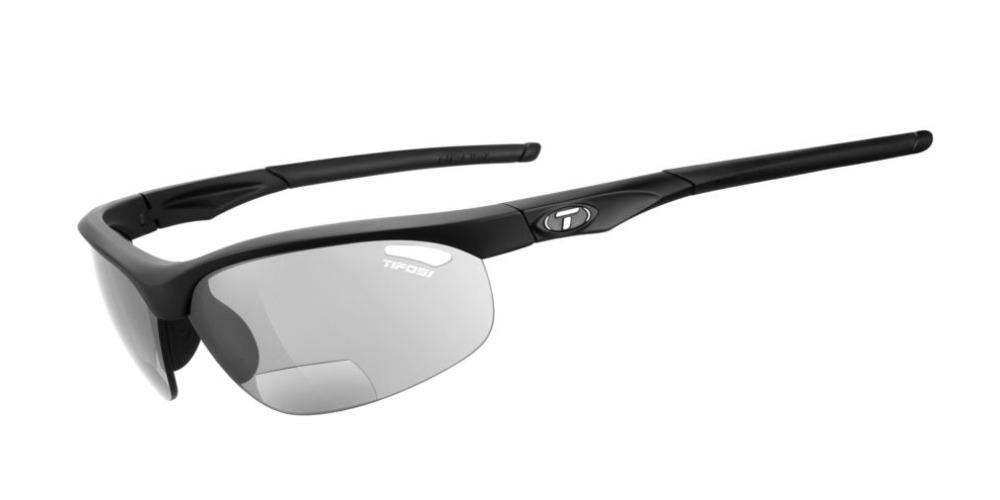 Tifosi Veloce Sunglasses Matte Black Foto +2.0 W/ Light Night Fototec +2.0