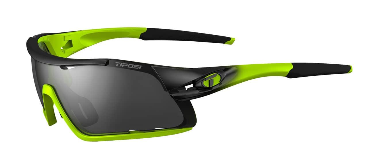 Tifosi Davos Sunglasses Race Neon w/ Smoke/AC Red/Clear