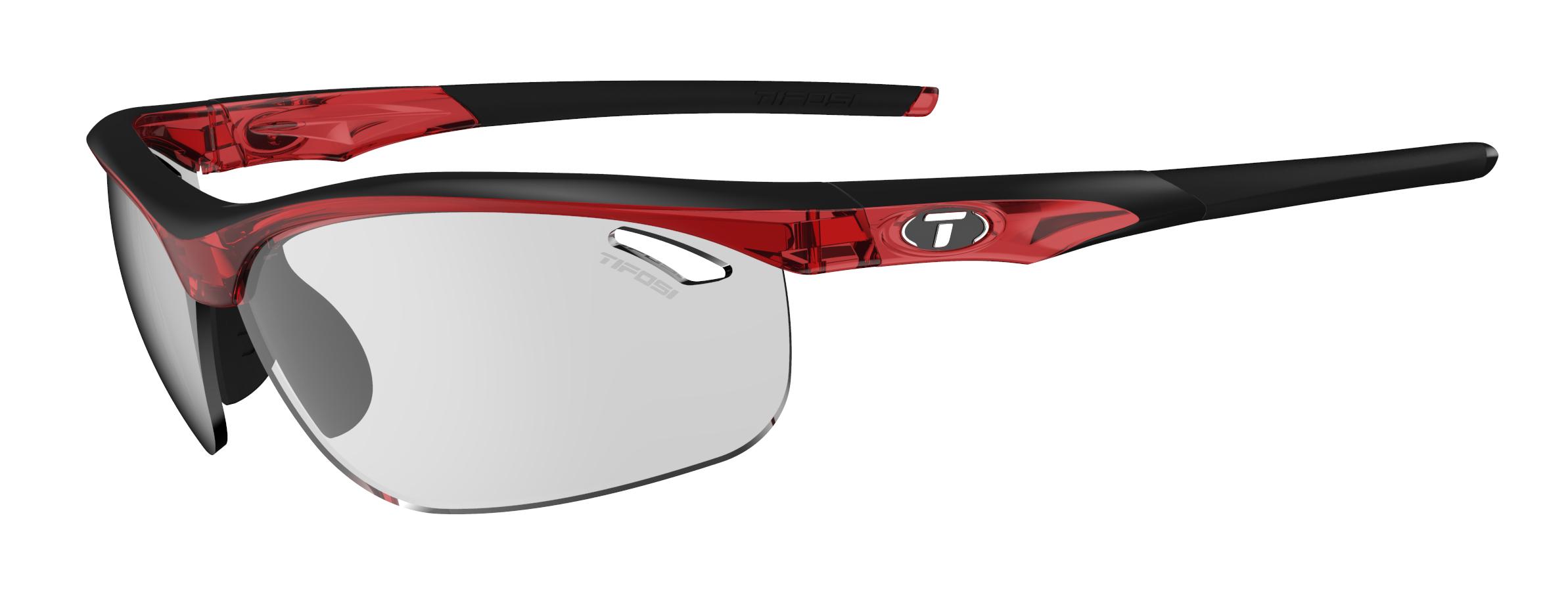 Tifosi Veloce Sunglasses Crystal Red w/ Smoke Fototec