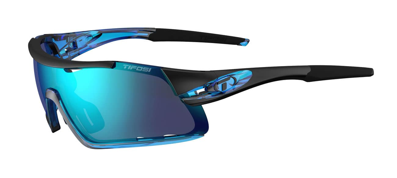 Tifosi Davos Sunglasses Crystal Blue w/ Clarion Blue/AC Red/Clear