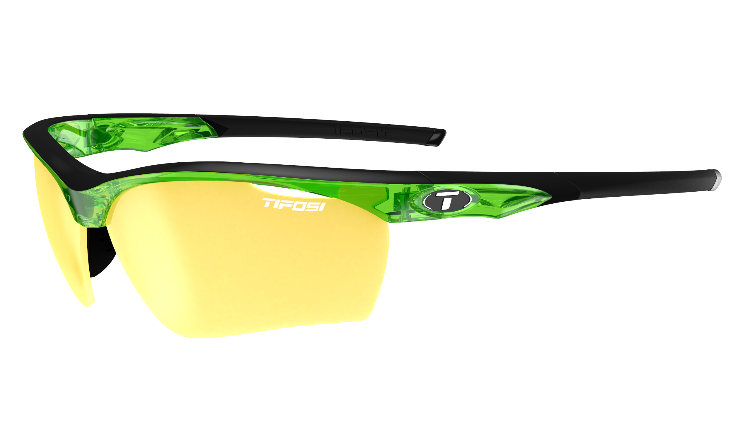 Tifosi Vero Sunglasses Crystal Neon Green w/ Clarion Yellow/AC Red/Clear