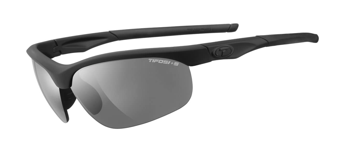 Tifosi Z87.1 Veloce Matte Black Tactical w/ Smoke/HC Red/Clear Lenses