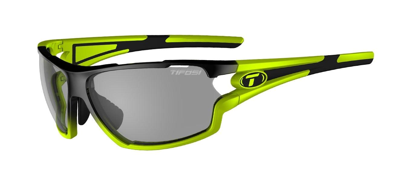 Tifosi Amok Sunglasses Race Neon w/ Smoke Fototec