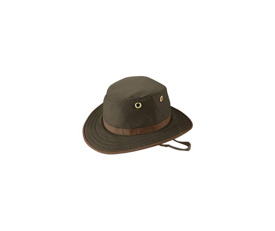 Tilley Twc7 Medium Brimmed Waxed Cotton Hat British Tan